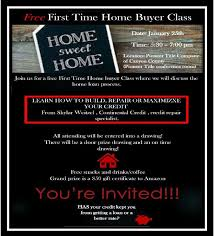 Free Credit Repair Class For Home Buyers