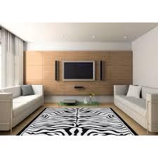 living line teppich safariwelt zebra rechteckig 7 mm höhe kurzflor zebra design wohnzimmer