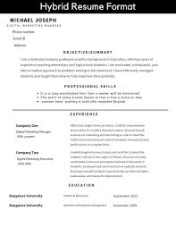 Resume Formats And Free Templates — TutorialBrain Combination Resume Examples Career Change Archives Simonvillani Administrative Assistant Hybrid Sample Valid Accounting The Templates Writing Guide Rg Hybrid Resume Mplate Word Sarozrabionetassociatscom Example Free Restaurant Template Template11 Jobscan Blog Which Rsum Format Is Best When Chaing Careers Impact Group Of Rumes Executive Assistant Elegant 14 Word Bination 013 Ideas