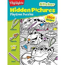 Highlights Sticker Hidden Pictures Playt Hightlights Paperback By For Children