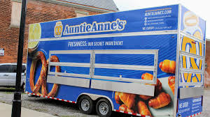 Auntie Anne's Pretzel Chain Opens Permanent Food Truck In Cincinnati ... Food Truck Wraps Graphics Wrap Cost How A Bbq Helped Save Johns Life Trucks Now Popular In Town Wvxu Rochester Ny Awesome Taste Of Ccinnati Oh Loveland Rally In Oh Roll On Dayton Roaming Hunger 20 New Photo Cars And Wallpaper Food Truck To Help Stem Senior Hunger Diocese Of Oakland July 4th Dtown Yelp Columbus Ohio Cool Wrap Designs Brings Lovely The Original Bites Mini Donuts