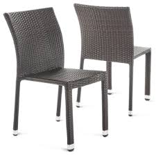 GDF Studio Dorside Outdoor Wicker Armless Stack Chairs With Aluminum Frame, Gdf Studio Dorside Outdoor Wicker Armless Stack Chairs With Alinum Frame Dover Armed Stacking With Set Of 4 Palm Harbor Stackable White All Weather Patio Chair Bay Island Noble House Multibrown Ding 2pack Plowhearth Bistro Two 30 Arm Brown 51 Bfm Seating Ms11cbbbl Gray Rattan Inoutdoor Restaurant Of Red By Crosley Fniture