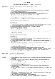Senior Mechanical Engineer Resume Sample