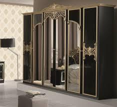 klassischer kleiderschrank schwarz gold barock italienisch 4 türig