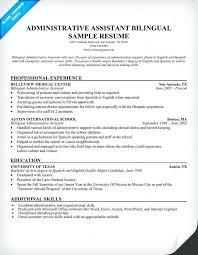 How Do You Say Resume In Spanish Administrative Assistant Bilingual Example Teacher