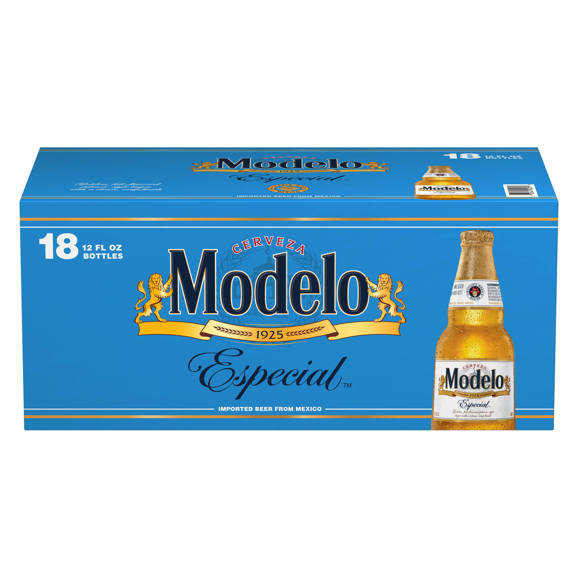 Modelo Especial Beer - 18 pack, 12 fl oz bottles