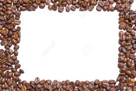 Coffee Beans Forming A Border With Copy Space White Background Stock Photo