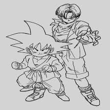 Dibujos De Dragon Ball Z Goku Y Vegeta Para Colorear Colorear