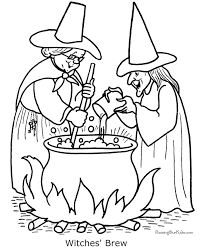 Witches Halloween Coloring Page