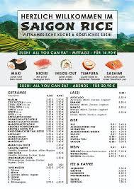 speisekarte vietnamesisches restaurant mainz saigon rice