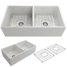 Whitehaus Farm Sink 36 by Bocchi Contempo Farmhouse Apron Front Fireclay 36 In Double Bowl