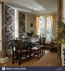 100 Heavy Wood Dining Room Chairs Wood Chairs At Table In Dining Room With ToiledeJouy Wall