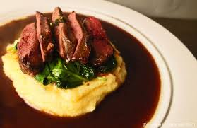 cuisine pigeon pigeon breast with wine and medlar jus
