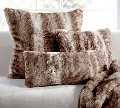 faux fur pillow cover caramel ombre pottery barn