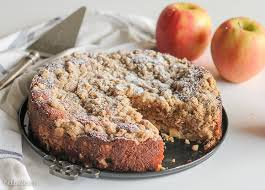 This Apple Crumb Cake is full of warm spices apple chunks and Greek yogurt