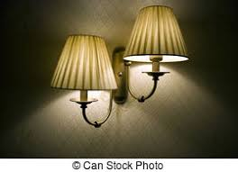 Photo Of Wall Lamp With Dim Light