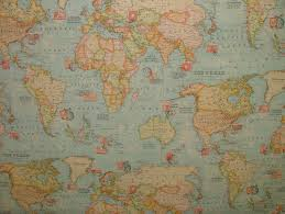 Fabric For Curtains South Africa by World Map 3 Designer Curtain Upholstery Cotton Fabric Material