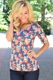 navy polka dot and floral tee modest bridesmaids dresses buy