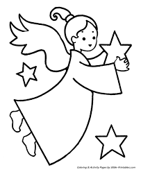 Easy Pre K Christmas Coloring Pages 1