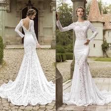 country western open back wedding dress mermaid vestido de noiva