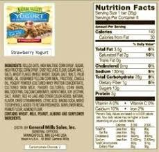 Granola Bar Nutrition Quaker Yogurt Facts