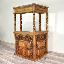Unusual Idea Mexican Style Furniture Vino Bar Spanish Carved Demejico