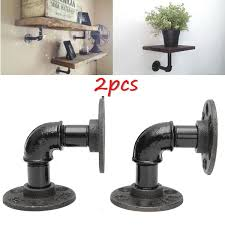 Restoration Hardware Curtain Rod Instructions by Amazon Com Kingso 2pcs 8x8cm Industrial Black Iron Pipe Shelf