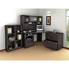 Cymax Desk With Hutch by Bush Cabot 4 Piece L Shaped Computer Desk Office Set In Espresso