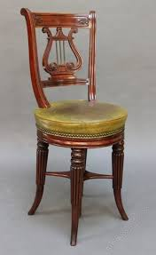 Lyre Back Chairs Antique by Regency Mahogany Lyre Back Harpist Piano Chair Antiques Atlas