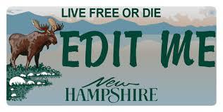 New Hampshire Moose Replica Aluminum License Plate by