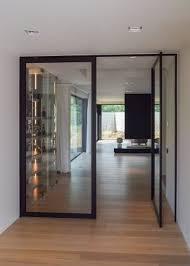 dubbele glazen pivoterende deur flügeltür wohnzimmer haus