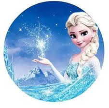Frozen Elsa Anna Edible Image Cake Topper Sheet Birthday Party 8 Inches Round