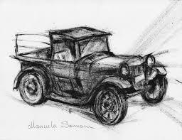 100 Antique Truck Classic Car Drawing Illustration Car Print Retro Etsy