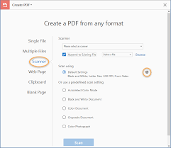 Options For Scanning A Paper Document To PDF