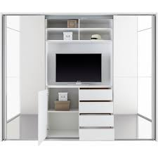 schwebetürenschrank mit tv fach und spiegel