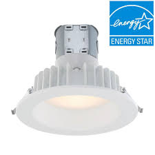 White Downlighter Conversion Kit Convert by Envirolite Easy Up W Direct Wire J Box 6 In White Integrated Led