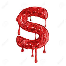 Blood Font Halloween Horror Letter S Stock Photo Picture And