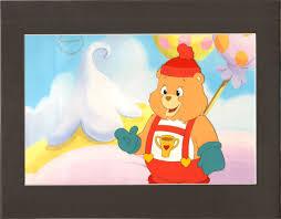 Berenstain Bears Christmas Tree 1979 by Care Bears Champ Bear Production Cel American Greetings Nelvana