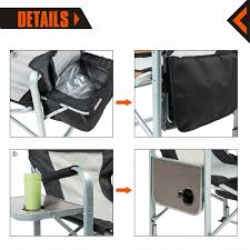 Coleman Oversized Padded Quad Chair Side Cooler by Amazon Com Kingcamp Heavy Duty Steel Folding Chair Director U0027s