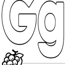Letter G Coloring Page 20337