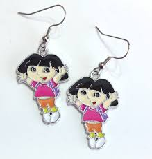 Dora The Explorer Kitchen Set India by Dora The Explorer With Backpack Enamel Charm Earrings Silver