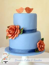 Gluten Free Lime Coconut Wedding Anniversary Cake With Copper Coloured Camellia Flowers Edible Bird
