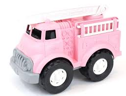 Amazon.com: Green Toys Fire Truck Vehicle Toy, Pink, 11 X 6.5 X 7.5 ...