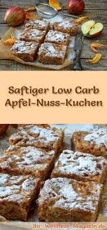 schneller saftiger low carb apfel nusskuchen rezept ohne