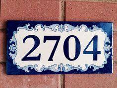 custom painted house number tile by carmenaberasturi on etsy