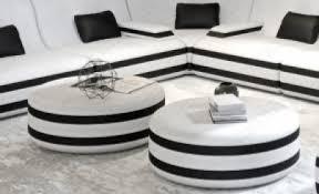 wohnzimmertisch mit glasplatte und lederbezug sofa dreams