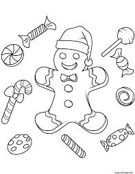 Petit Bonhomme En Pain D Epice Coloriages De Noël Coloriages