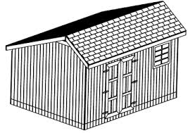 12x16 Slant Roof Shed Plans by 12x16 Saltbox Backyard Shed 26 Garden Shed Plans Diy Original