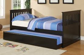Poundex Youth Bedroom Trundle Bed in Black Wood Huntington Beach