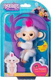 WowWee Fingerlings Baby Monkey Sophie White 3702